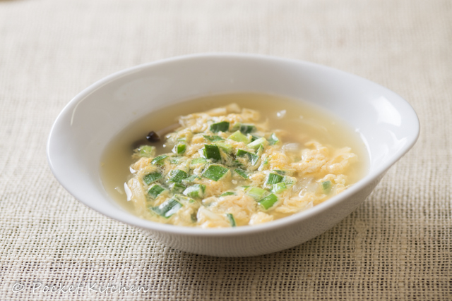 卵とニラのスープ横