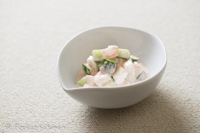 長芋と胡瓜の明太和え