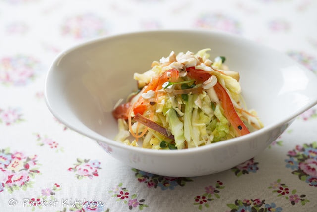 色とりどりの野菜のコールスロー